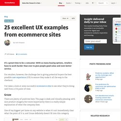 25 excellent UX examples from ecommerce sites