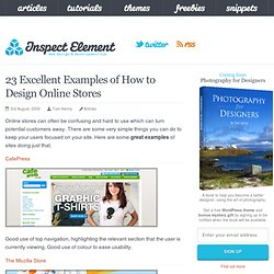 23 Excellent Examples of How to Design Online Stores - Inspect E