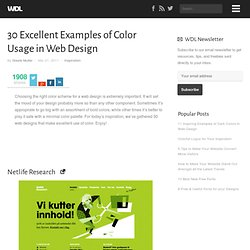30 Excellent Examples of Color Usage in Web Design