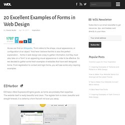 20 Excellent Examples of Forms in Web Design