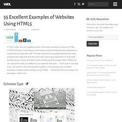 55 Excellent Examples of Websites Using HTML5