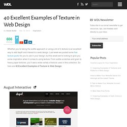 40 Excellent Examples of Texture in Web Design
