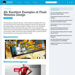 45+ Excellent Examples of Flash Websites Design