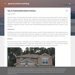 Tips To Find Excellent Exterior Painters