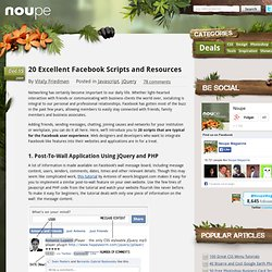 20 Excellent Facebook Scripts and Resources - Noupe Design Blog
