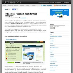 10 Excellent Feedback Tools for Web Designers