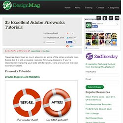 35 Excellent Adobe Fireworks Tutorials