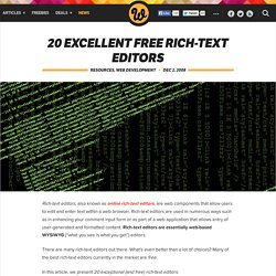 20 Excellent Free Rich-Text Editors