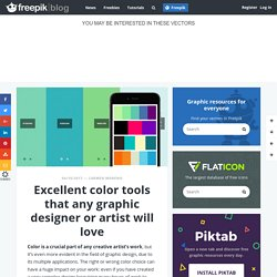 Excellent color tools that any graphic designer or artist will love