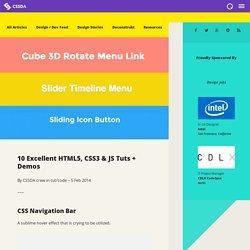 10 Excellent HTML5, CSS3 & JS Tuts + Demos