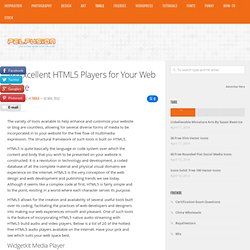 20 Excellent HTML5 Players for Your Web Space