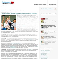 Ten Excellent Online Apps For the Innovative Teacher