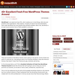 45+ Excellent Fresh Free Wordpress Themes Around | Showcases