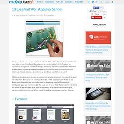 10 Excellent iPad Apps For School