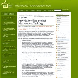 How to Provide Excellent Project Management Training