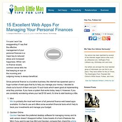 15 Excellent Web Apps For Managing Your Personal Finances - Dumb Little Man