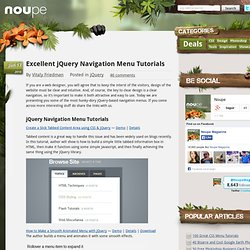 Excellent jQuery Navigation Menu Tutorials - Noupe Design Blog