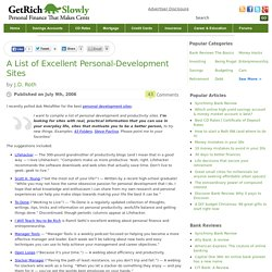 A List of Excellent Personal-Development Sites