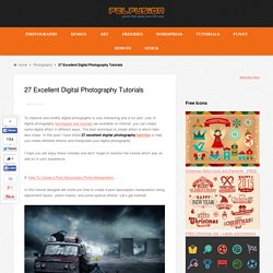27 Excellent Digital Photography Tutorials