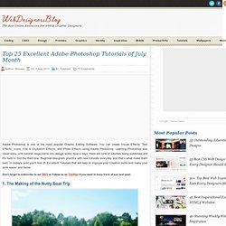 Top 25 Excellent Adobe Photoshop Tutorials of July Month