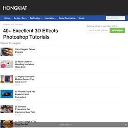 40+ Excellent 3D Effects Photoshop Tutorials - Hongkiat