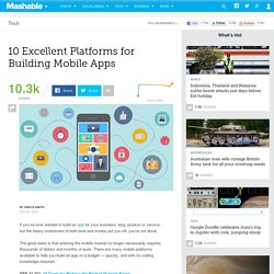 10 Excellent Platforms for Building Mobile Apps