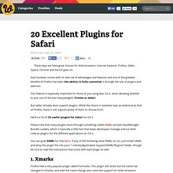 20 Excellent Plugins for Safari