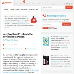 40 Excellent Freefonts For Professional Design - Smashing Magazine