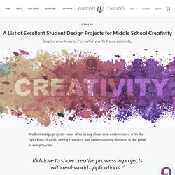 A List of Excellent Student Design Projects for Middle School Creativi – Wabisabi Learning