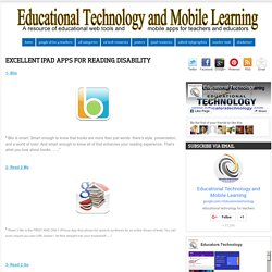Excellent iPad Apps for Reading Disability