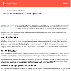 "12 Excellent Examples of ""Lazy Registration"""
