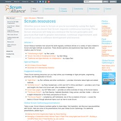 Get an Excellent List of Scrum Resources from Scrum Alliance
