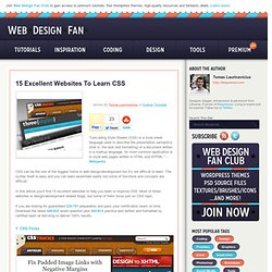 15 Excellent Websites To Learn CSS | WebDesignFan.com