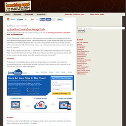 13 Excellent Free Online Storage Tools (19/04/2013)