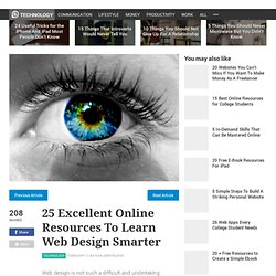 25 Excellent Online Resources To Learn Web Design Smarter