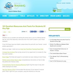 101 Excellent Resources And Tools For Students Of Any Age | Brain Training 101