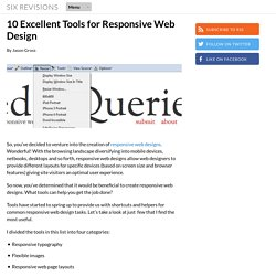10 Excellent Tools for Responsive Web Design