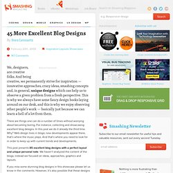 45 More Excellent Blog Designs | Design Showcase
