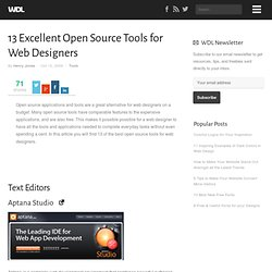 13 Excellent Open Source Tools for Web Designers