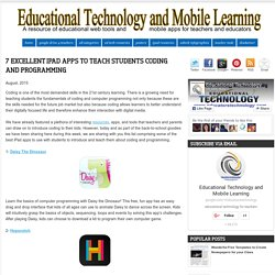 7 Excellent iPad Apps to Teach Students Coding and Programming