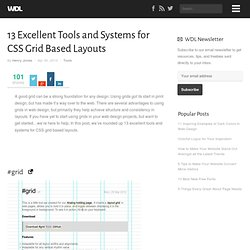 13 Excellent Tools and Systems for CSS Grid Based Layouts