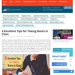 4 Excellent Tips for Taking Notes in Class