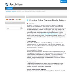 Excellent Online Teaching Tips for Better Learning of Students - Welcome - HCEN