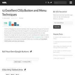 12 Excellent CSS3 Button and Menu Techniques | Tutorials