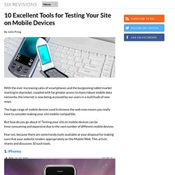 10 Excellent Tools for Testing Your Site on Mobile Devices