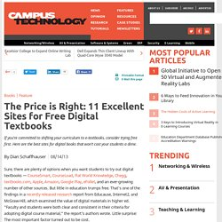 The Price is Right: 11 Excellent Sites for Free Digital Textbooks