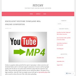 Popular YouTube to Mp3 Online Convertor