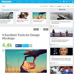 9 Excellent Tools for Design Mockups