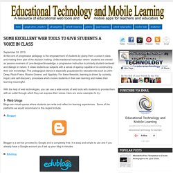 Some Excellent Web Tools to Give Students A Voice in Class