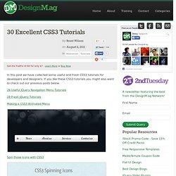 30 Excellent CSS3 Tutorials